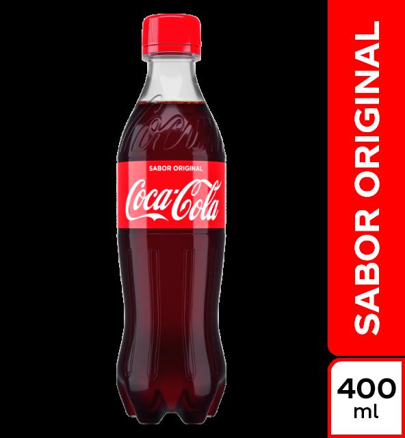 Gaseosa Coca Cola original botella x 400 ml