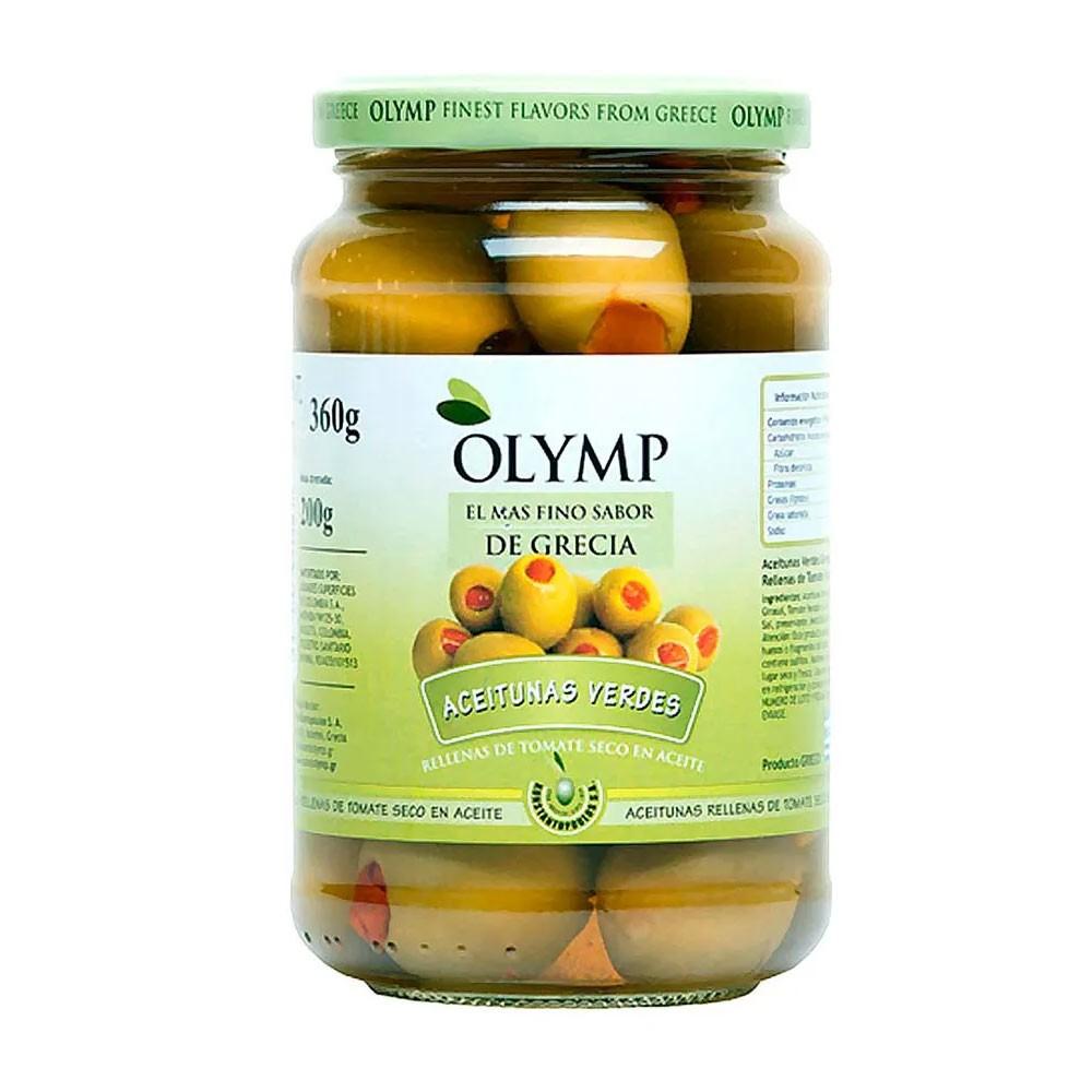 Aceitunas Verdes Rellenas De Tomate Olymp