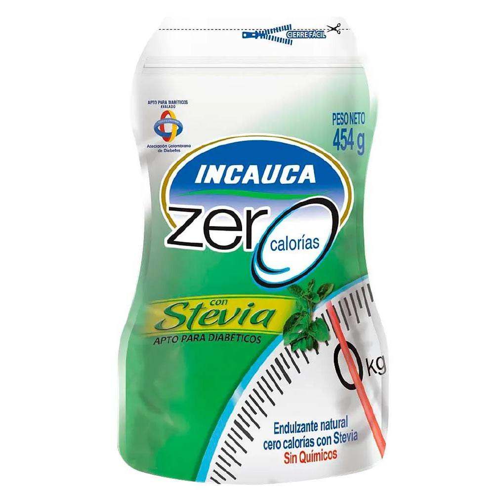 Endulzante cero calorías con stevia