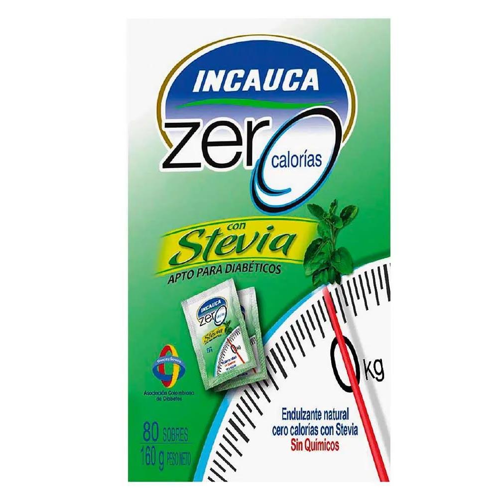 Incauca zero calorías con stevia x160g 80 sobres