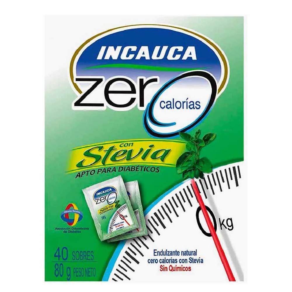 Incauca zero calorías con stevia x80g 40 sobres