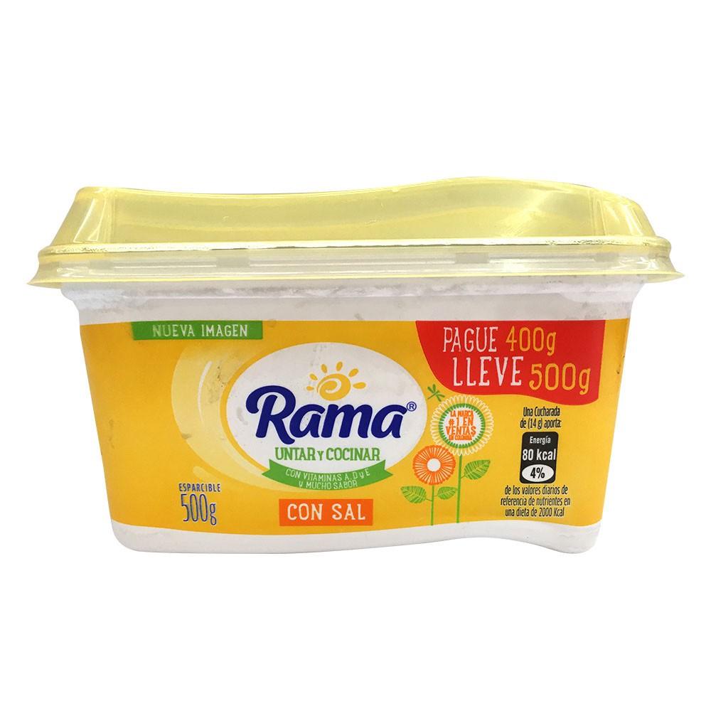 Margarina con sal Rama pague 400 lleve 500 g