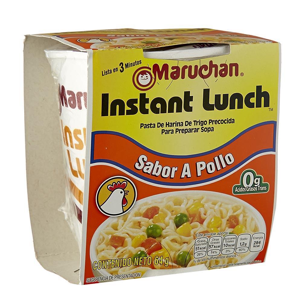 Sopa sabor a pollo Maruchan