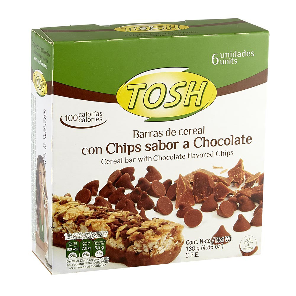 Barra de Cereal Chocolate Tosh