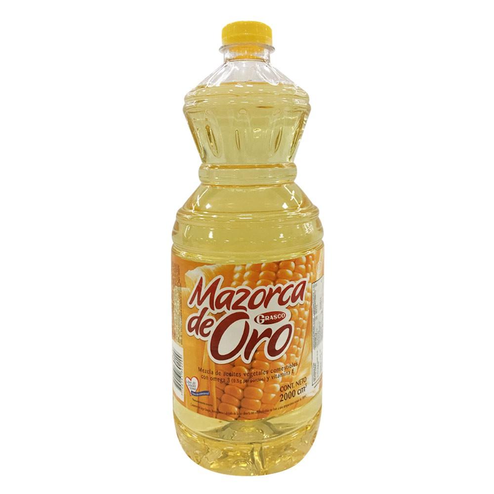 Mezcla aceite mazorca oro vegetal