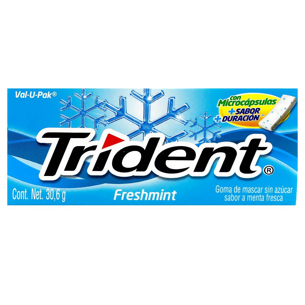 Chicle Trident Value Pack Freshmint Sin Azúcar