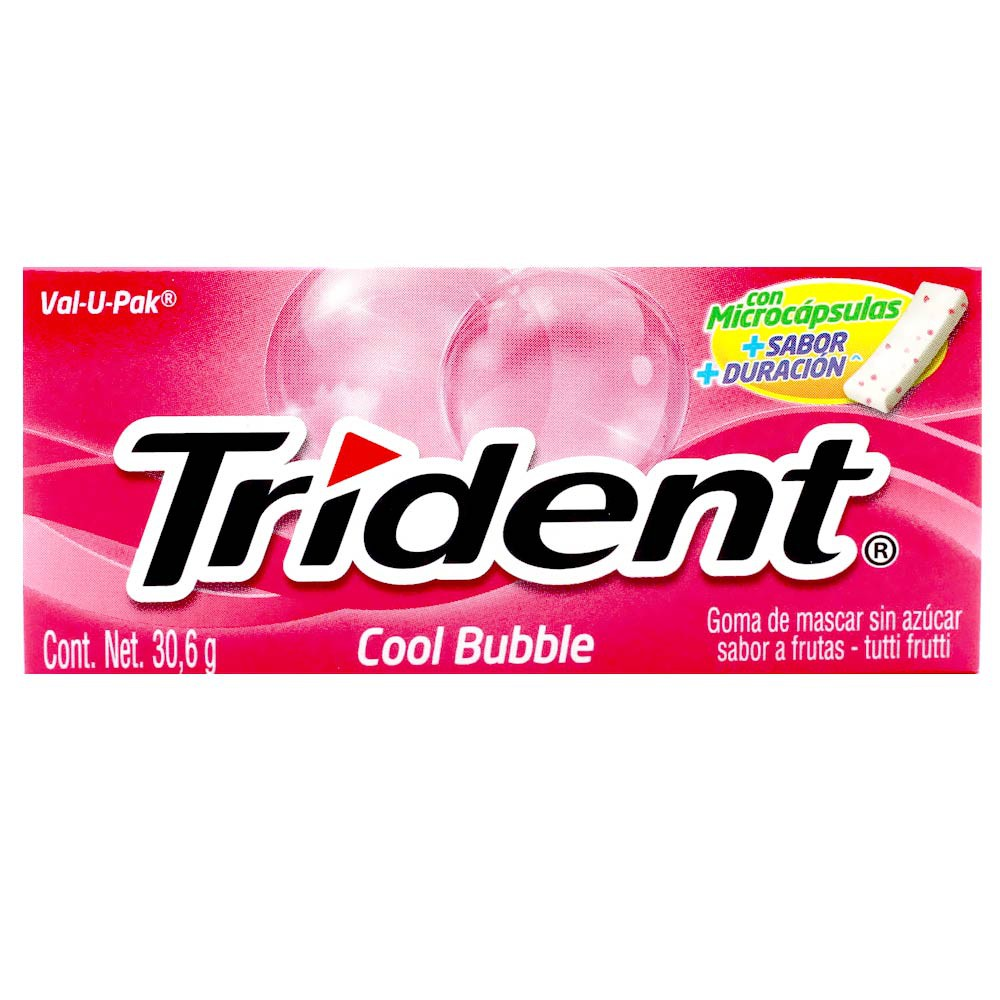 Chicle Trident Value Pack Coolbubble Sin Azúcar