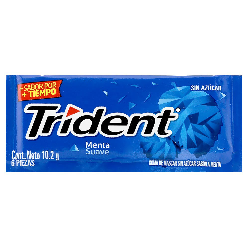 Chicle Trident Menta Suave Sin Azúcar