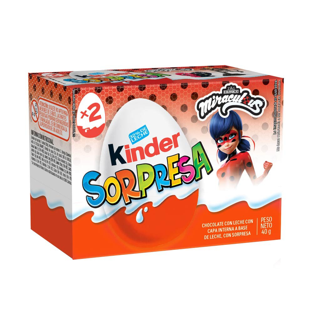 Chocolate Kinder sorpresa miraculous