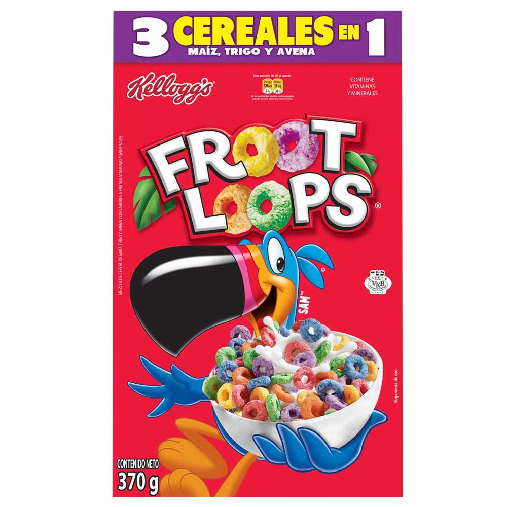 Cereal froot loops 3 cereales