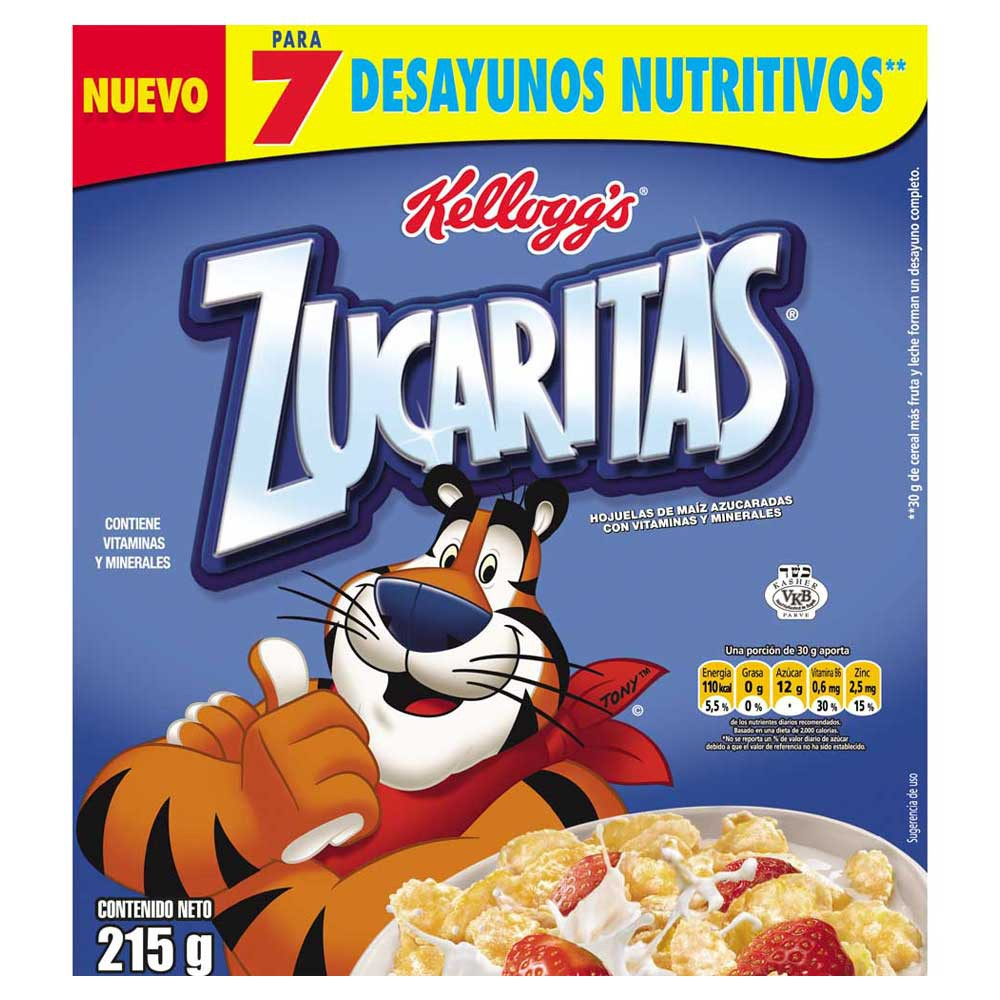 Cereal Zucaritas paquete x 215 g