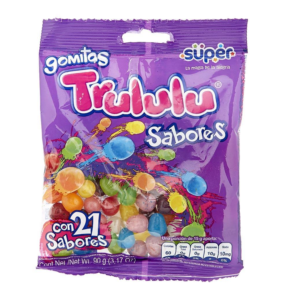 Gomas sabores Trululu