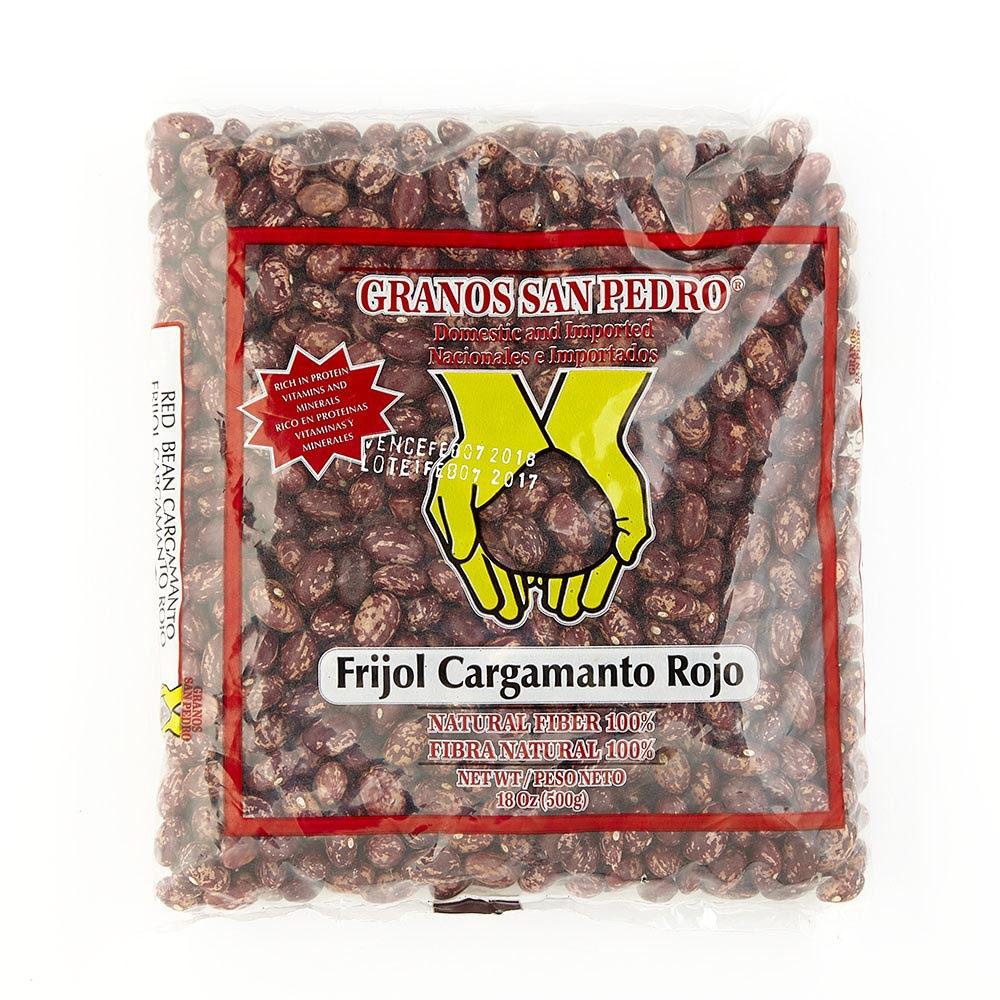 Frijol Cargamanto Rojo San Pedro x 500 g.