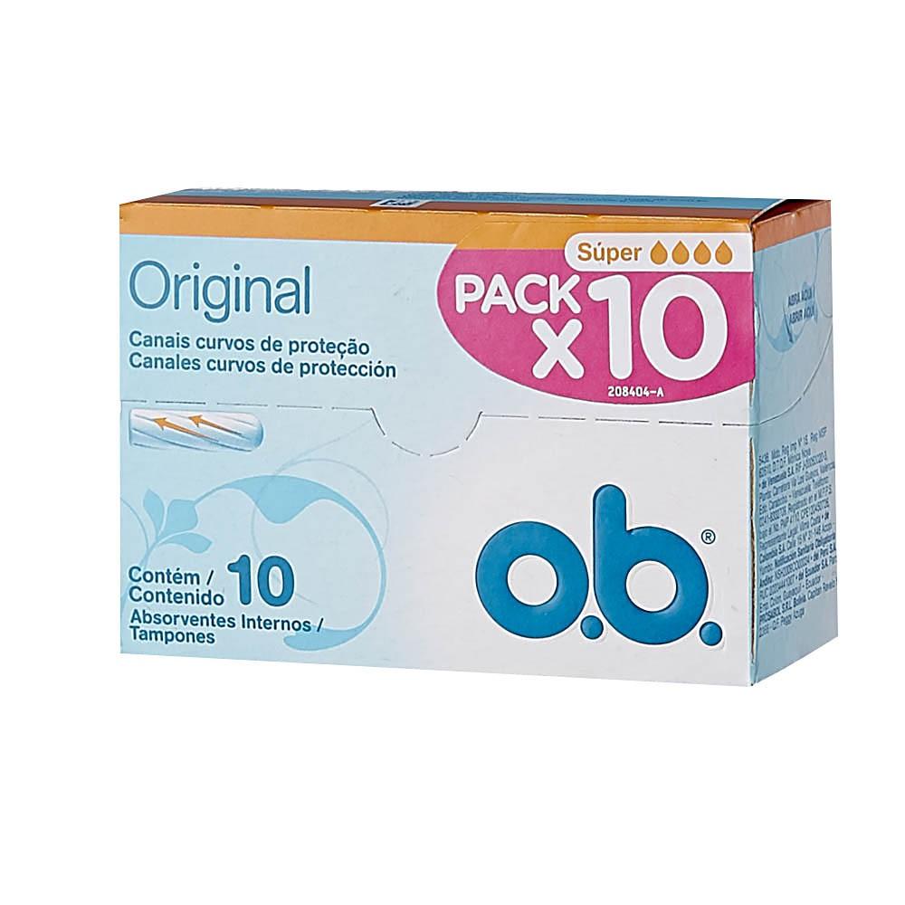 Tampón o.b.®Original Súper x 10 und