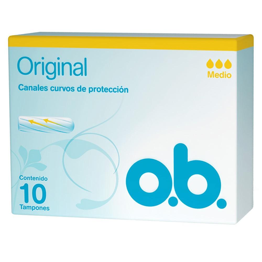 Tampón o.b.®Original Medio x 10 und