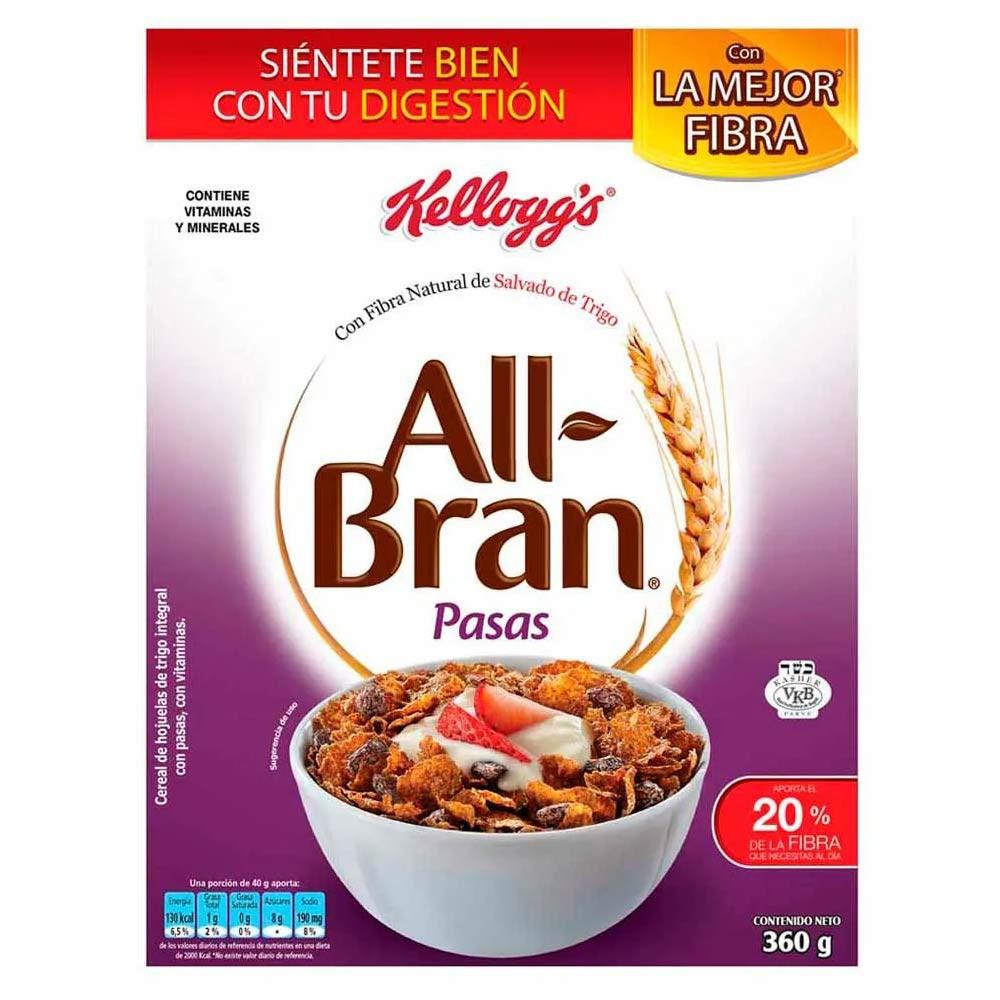 Cereal All Bran con pasas