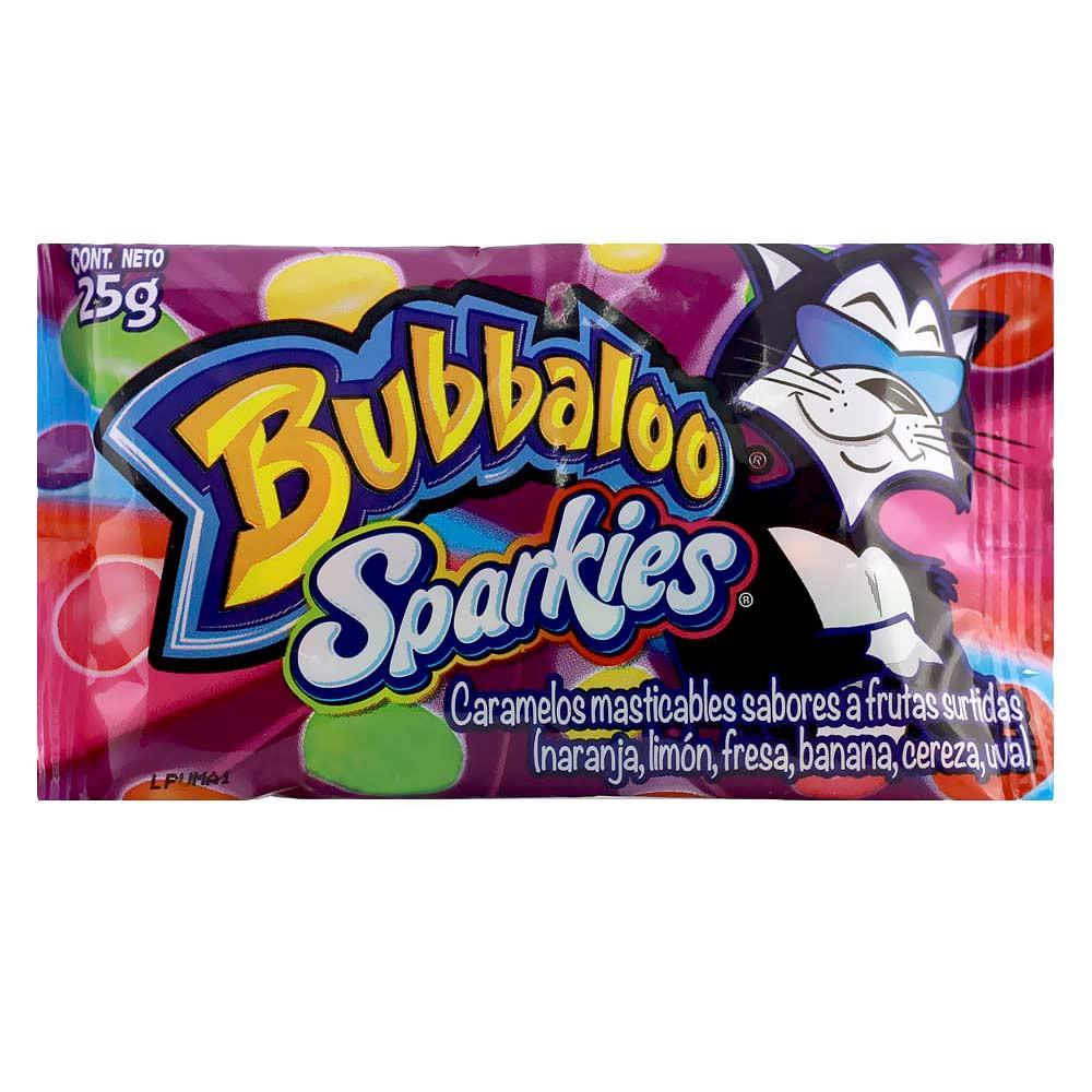 Caramelo Bubbalo Sparkies sabores a frutas surtidas