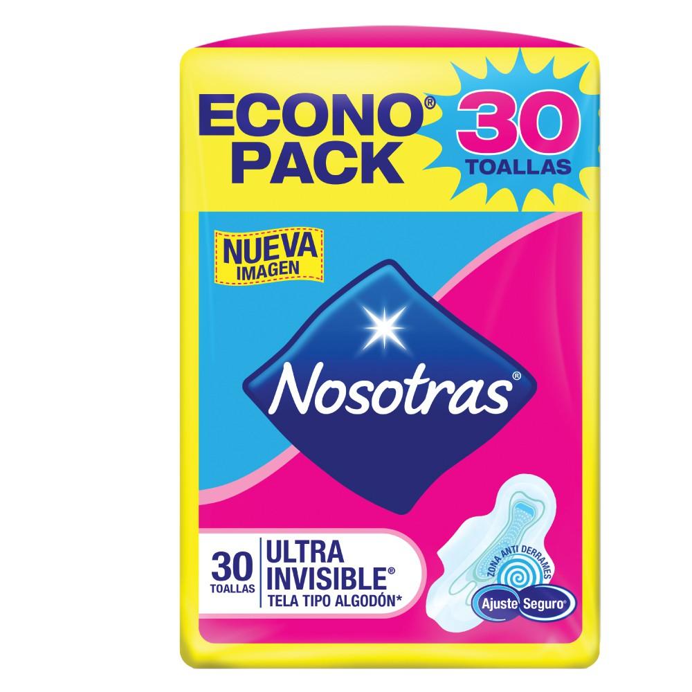 Toalla higienica ajuste seguro tipo tela Nosotras