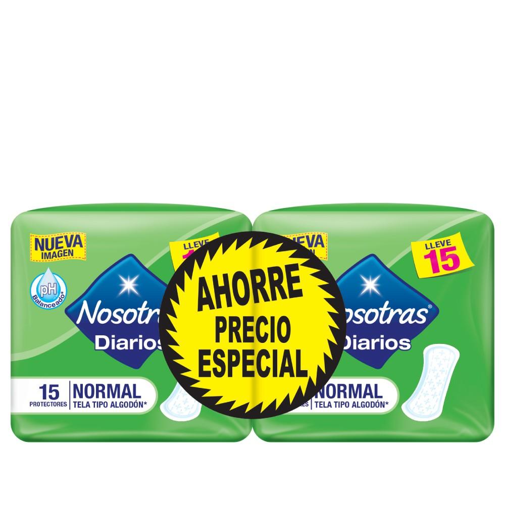 Protectores Diarios Nosotras Normal  2paq