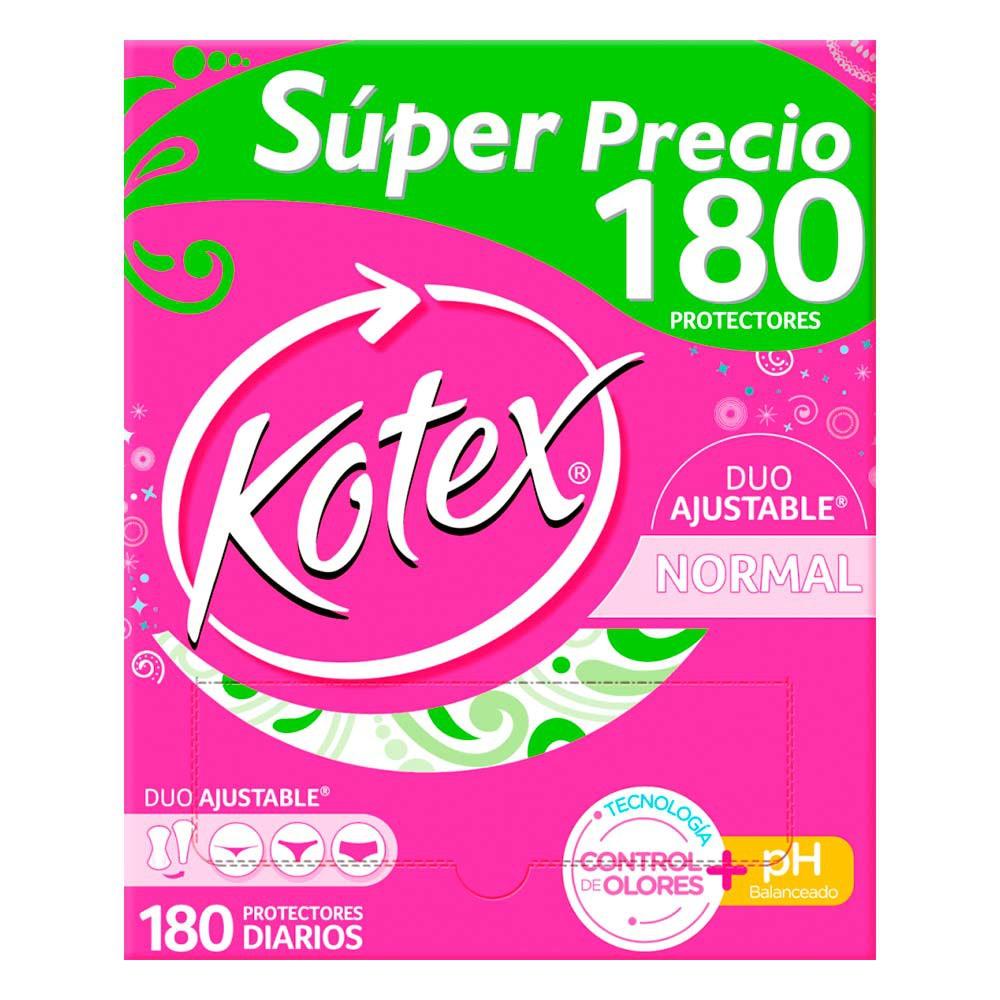 Protectores día Kotex Nor Control Olor x 180 und