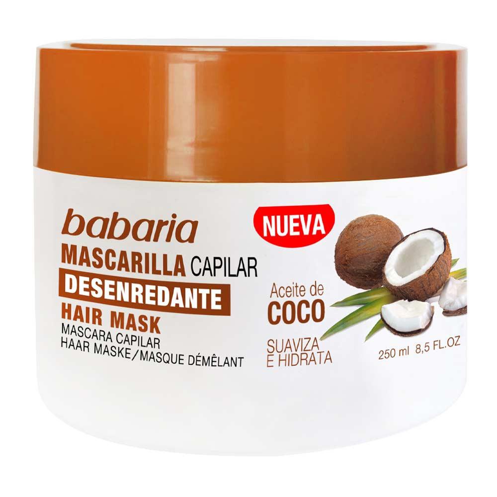 Mascarilla capilar desenredante aceite de coco Babaria