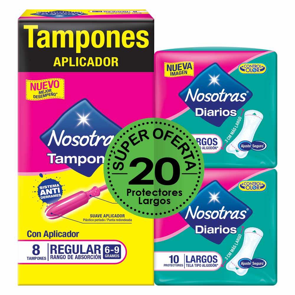 Tampones Nosotras aplicador regular