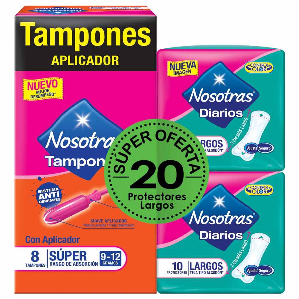 Tampones Nosotras aplicador súper