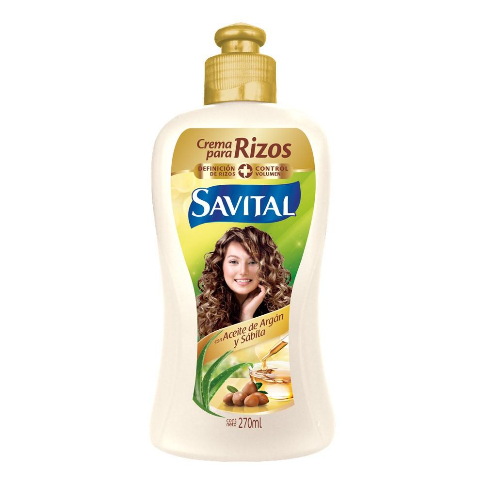 Crema peinar Savital rizos argán sábila