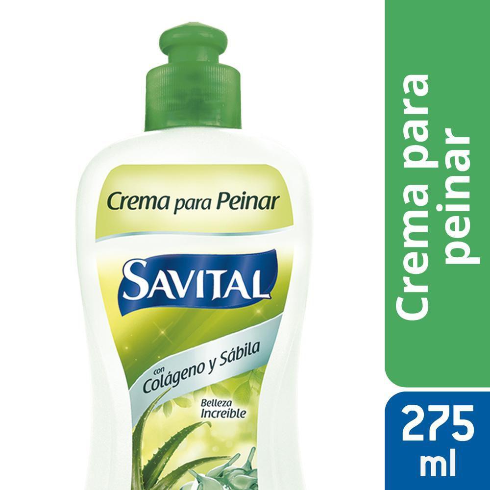 Crema peinar Savital colágeno sábila