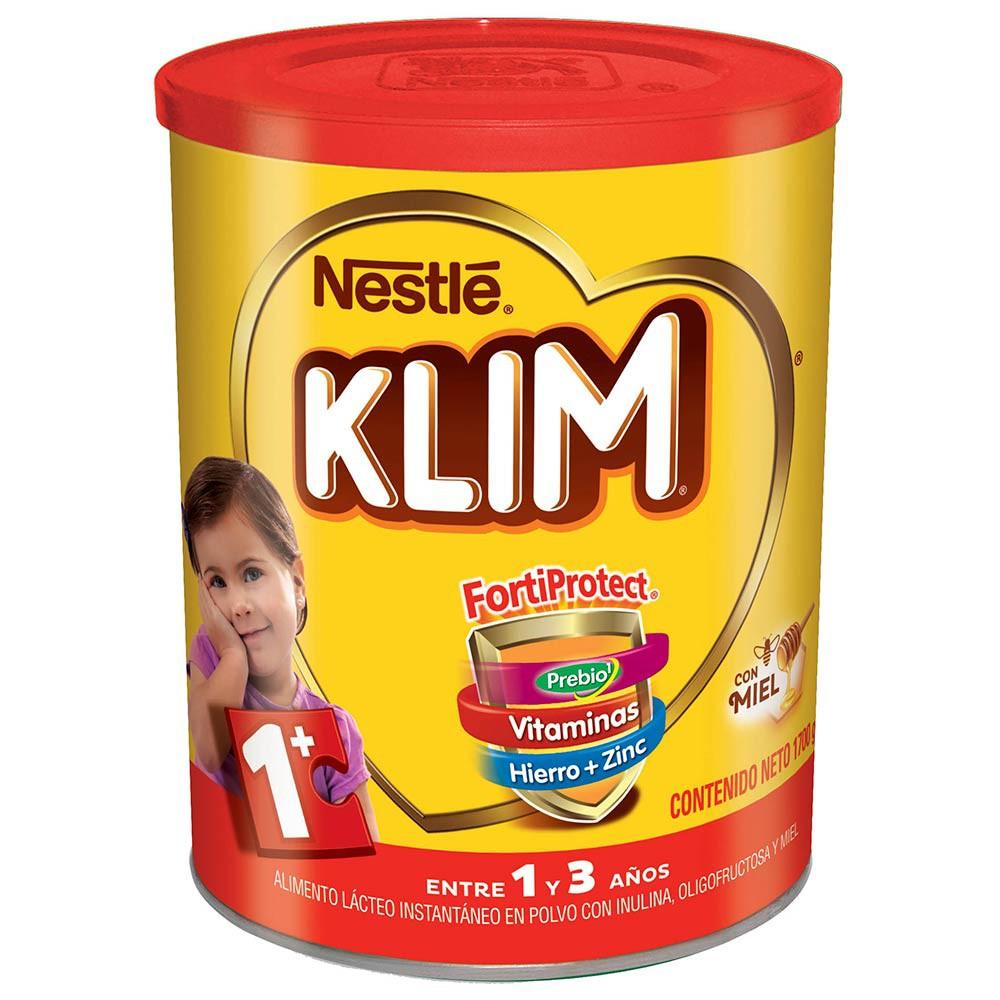 Alimento Lácteo instantáneo Klim 1 + con Prebióticos y miel x 1700 g