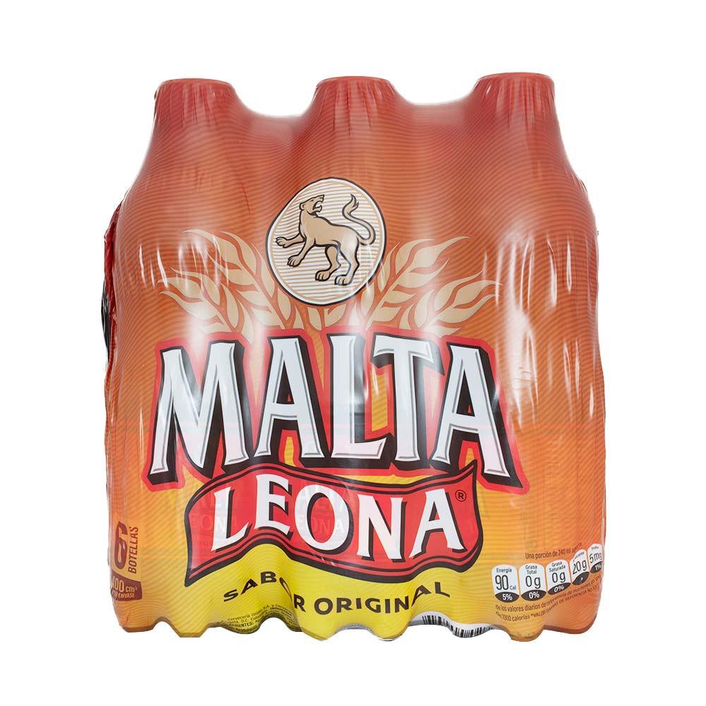 Bebida Malta Leona x 6 und x 400ml c-u