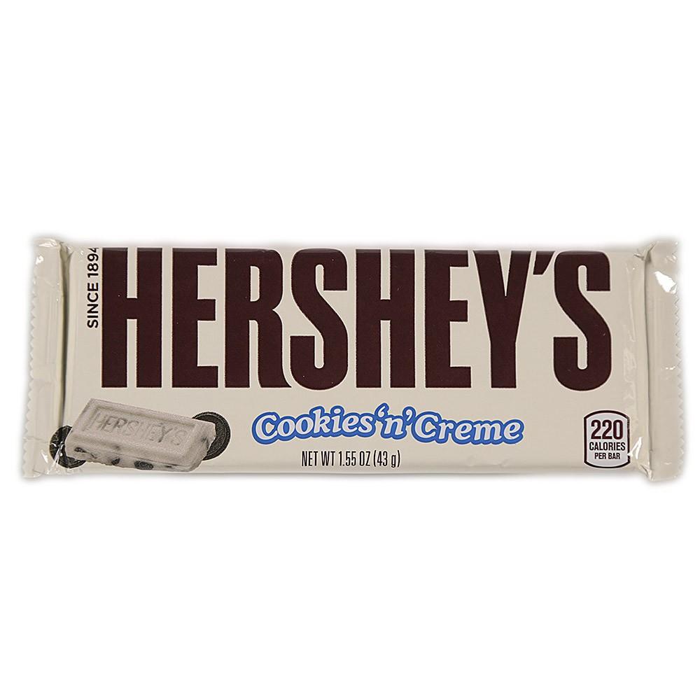 Tableta de chocolate y leche hersheys x 43 g