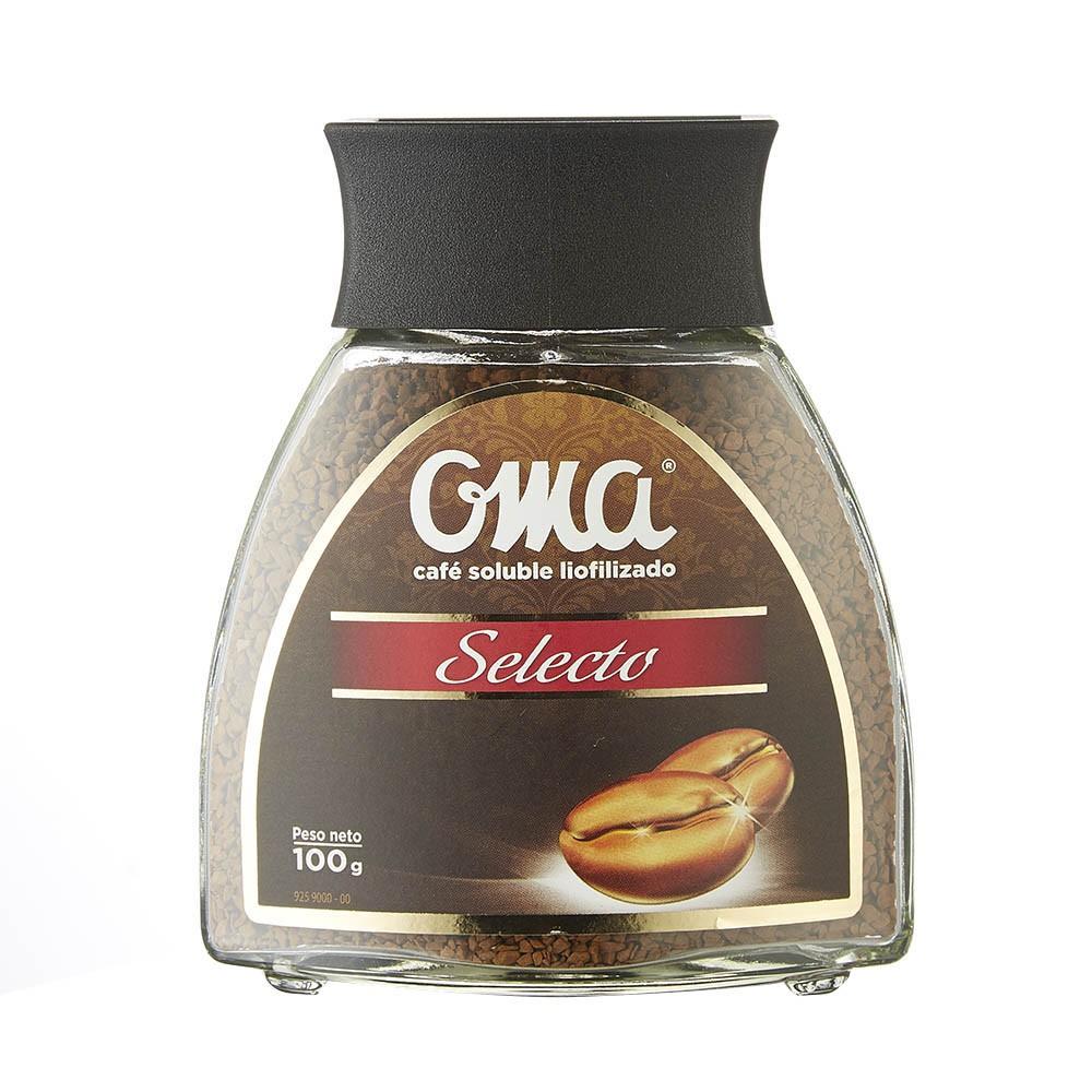 Café soluble liofilizado selecto Oma