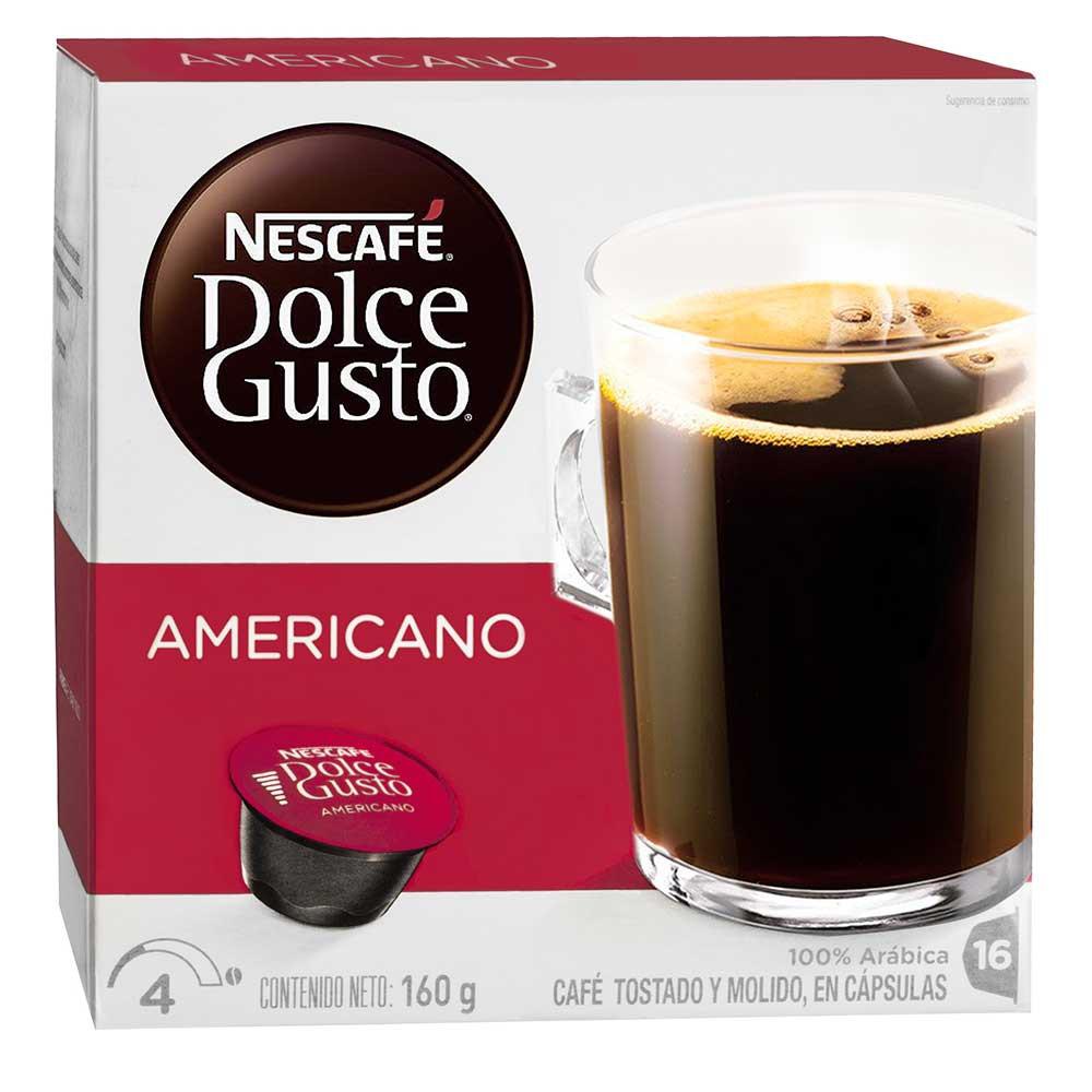 Cápsula Nescafé Dolce Gusto Americano  16 Tazas Preparadas