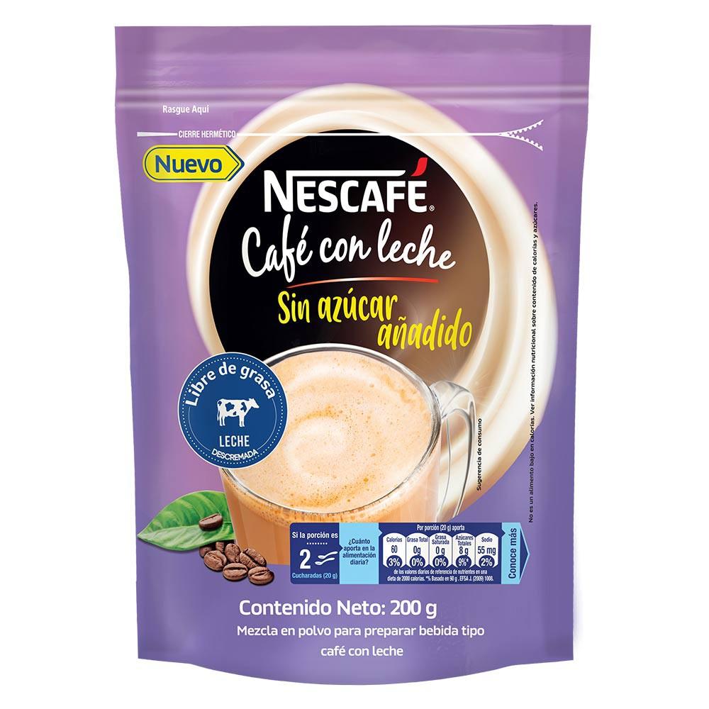 Nescafé Café con Leche Sin Azúcar añadido