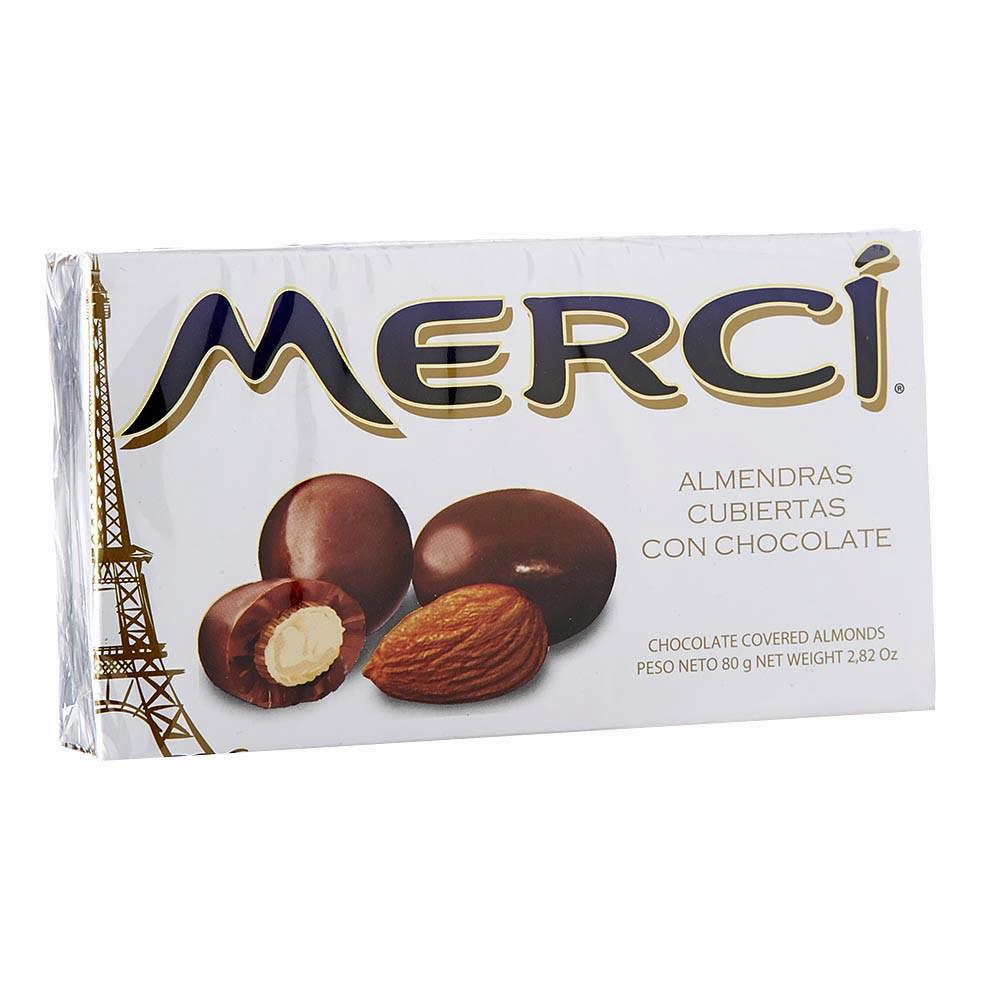 Almendras cubiertas con chocolate x 80 g