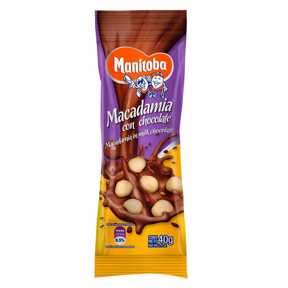 Macadamia Manitoba recubierto chocolate