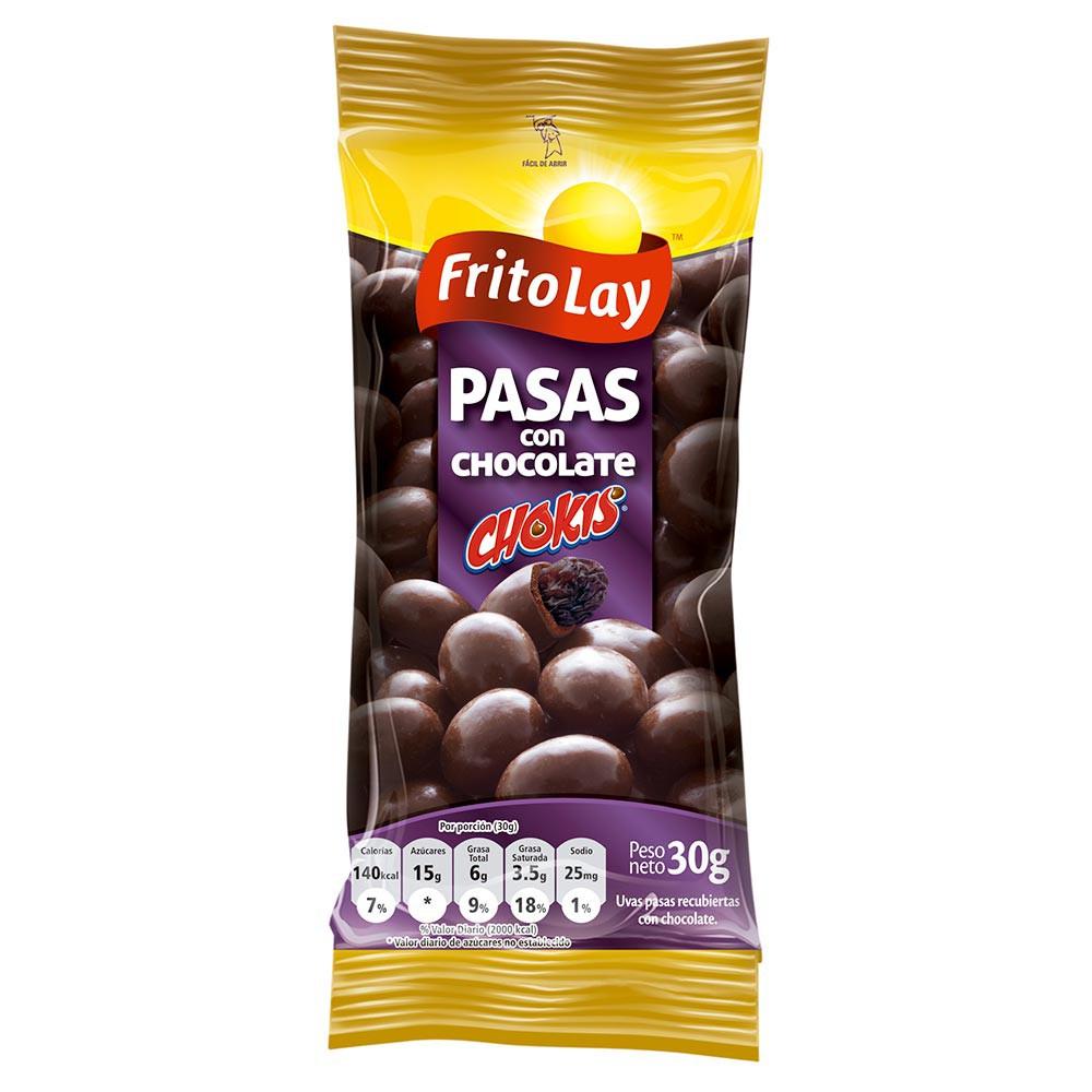Uvas pasas recubiertas de chocolate chokis