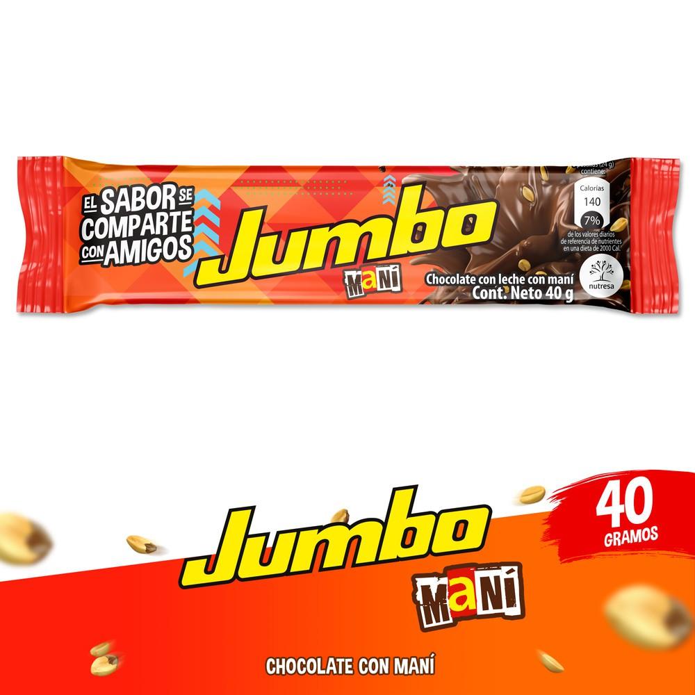 Chocolatina jumbo maní