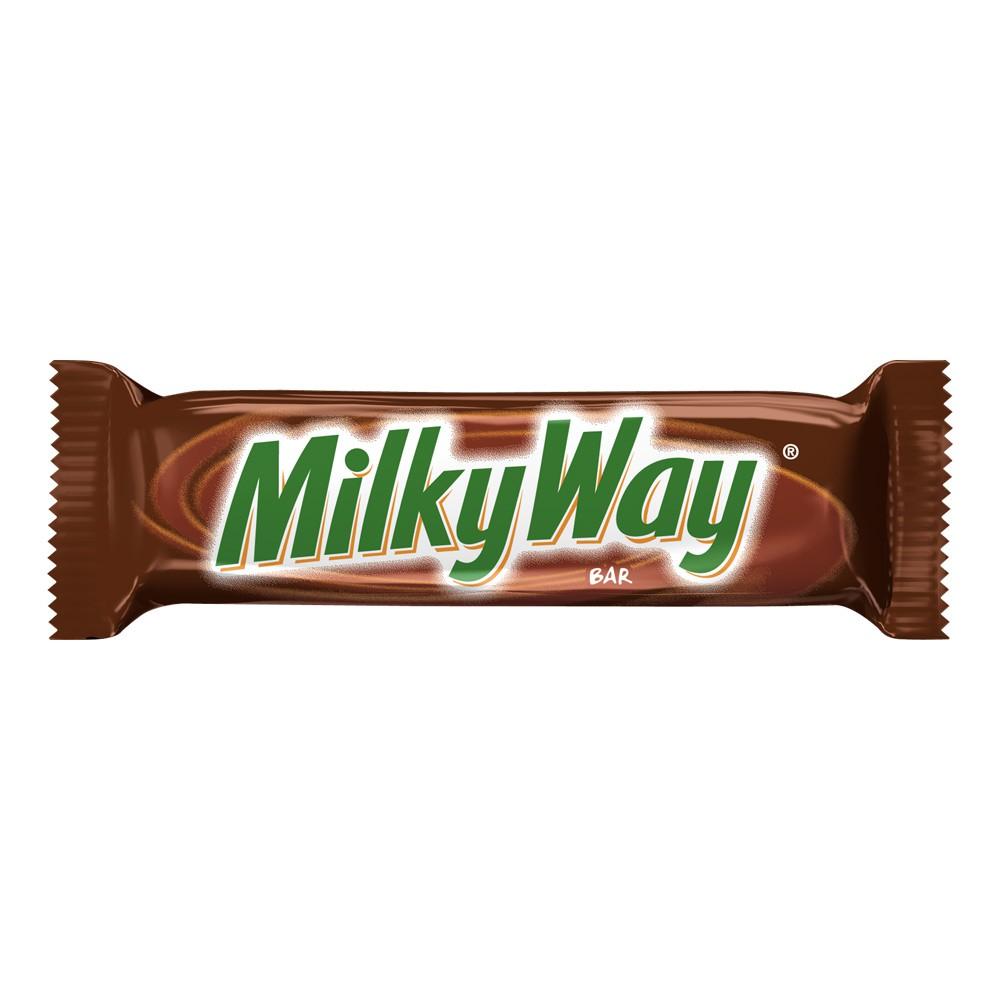 Barra de Chocolate Milky Way con turron y arequipe