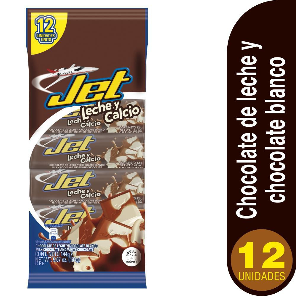 Chocolatina Leche y Calcio Jet