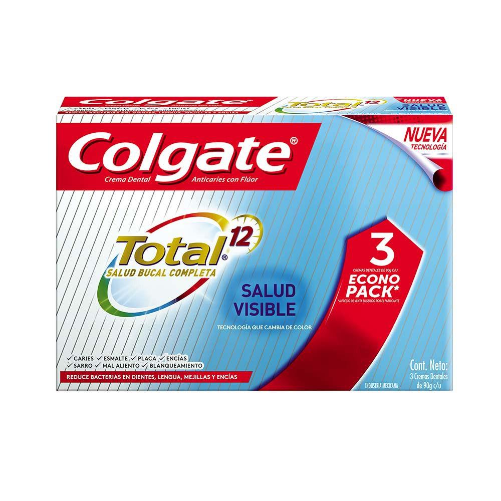 Crema Colgate salud visible total 12 x 3 und x 75 ml c-u