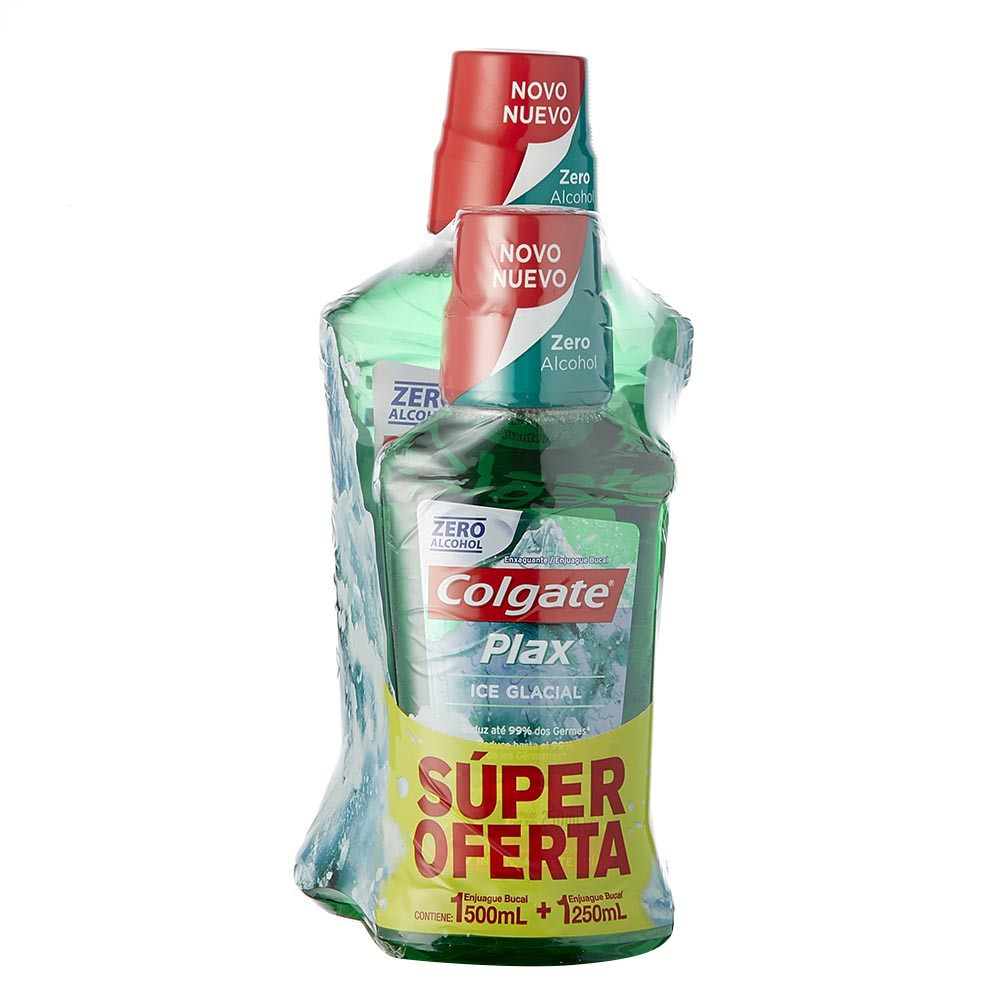 Enjuague bucal Colgate hielo glacial x 500 ml + 250 ml precio especial