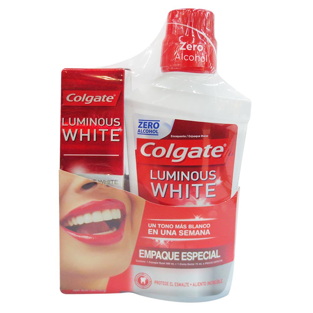 Oferta Enjuague Luminous Whitening 500ml mas Crema Luminous Whitening 75ml