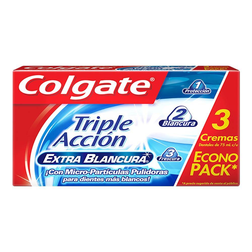 Oferta Crema Dental Triple Acción Extra Blancura 75ml x 3