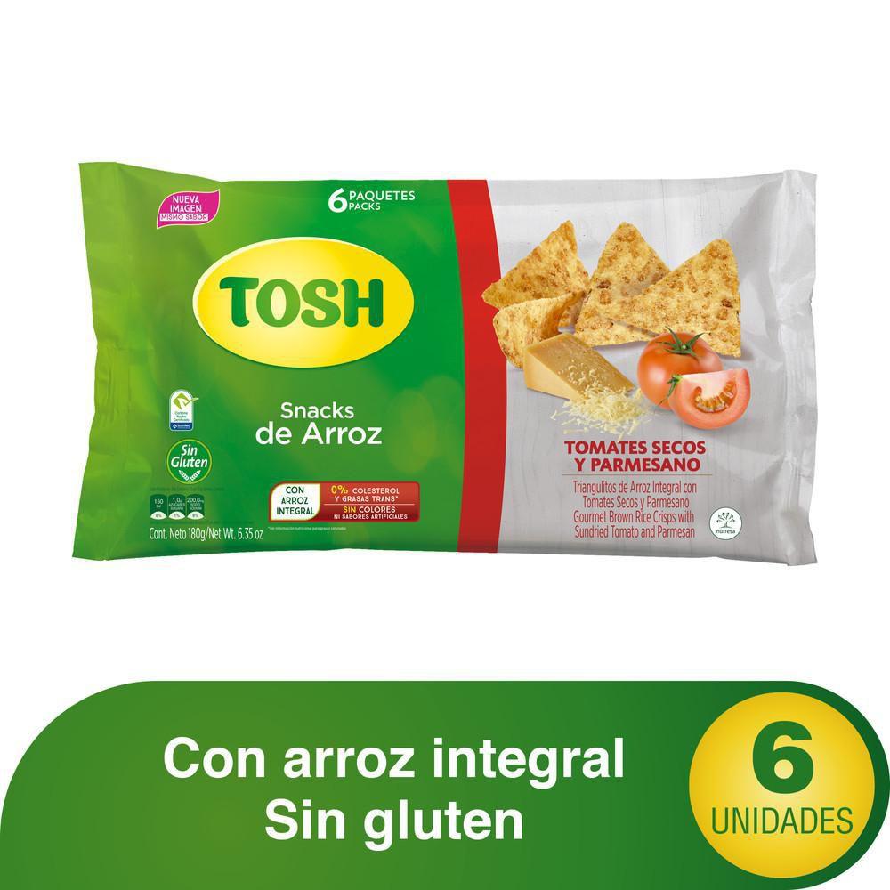 Tosh snacks tomates secos y parmesano