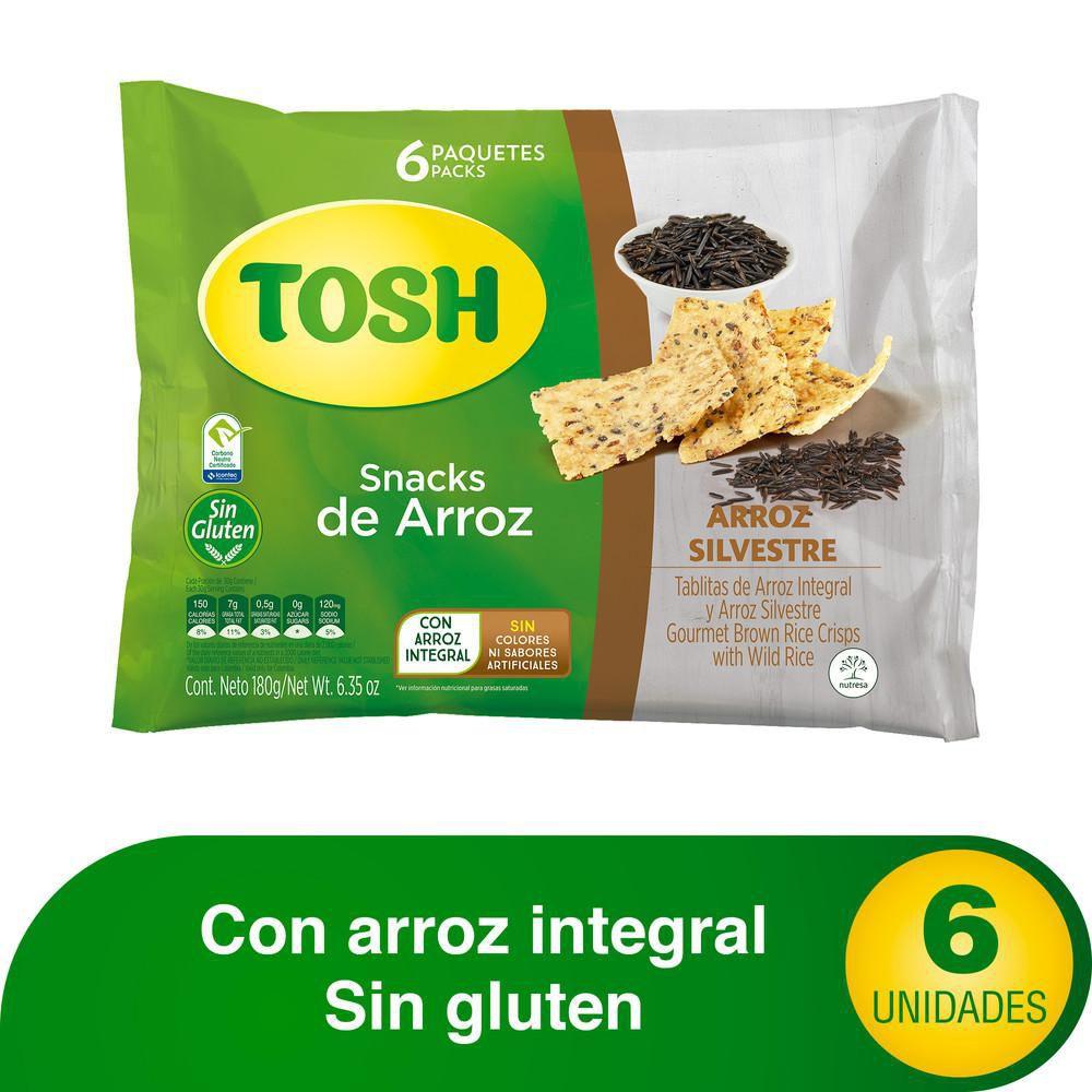 Tosh snacks arroz silvestre