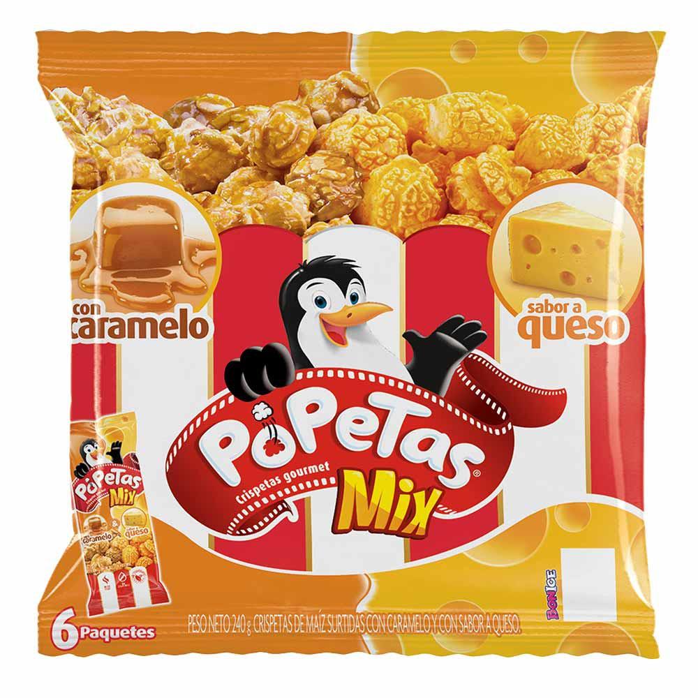 Crispetas POPETAS mix Caramelo y Queso