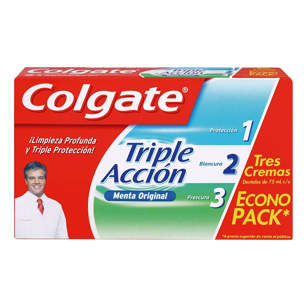 Oferta Crema Dental Triple Acción x 750 ml x 3