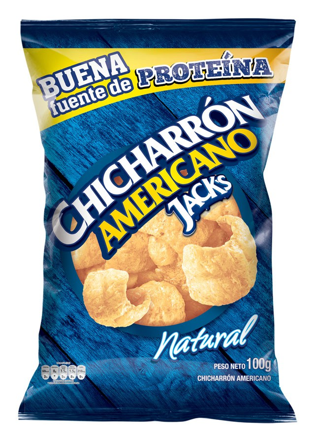 Chicharrón americano natural